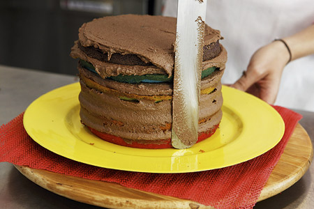 Κέικ-τούρτα ουράνιο τόξο